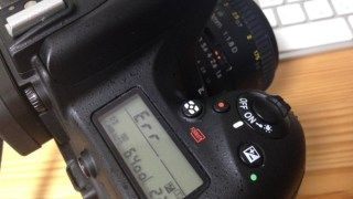 Nikon D750のエラー表示、Err、CArd、などについて