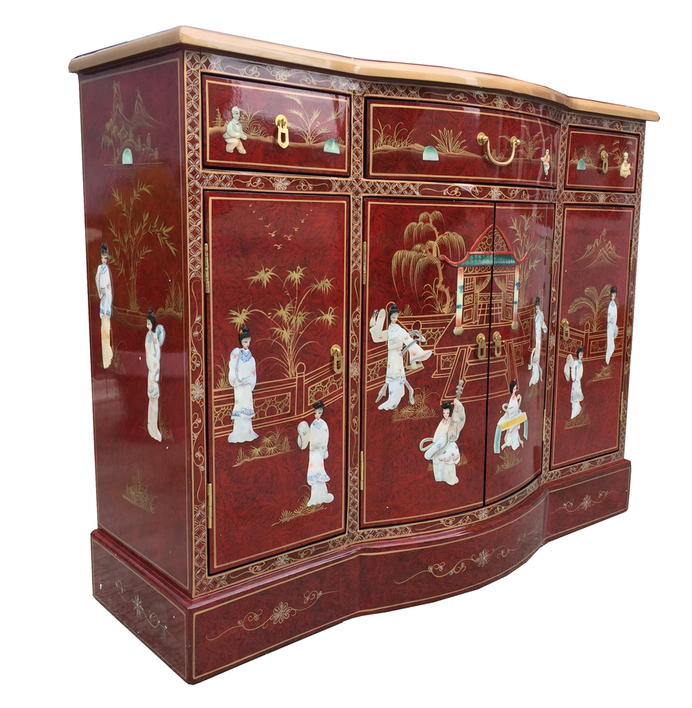 Meuble Chinois Rouge Buffet Chinois Rouge Avec Incrustations Meubles Labaiedhalong