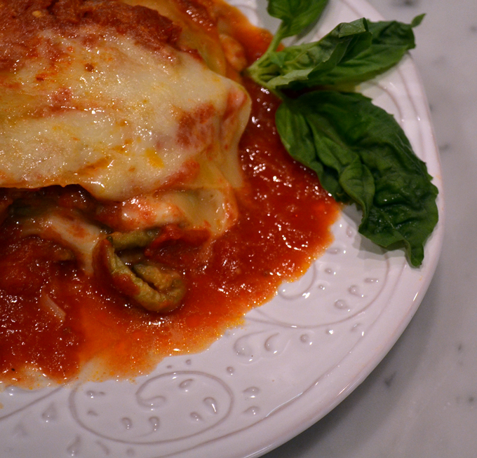 Lasagna with Eggplant and Smoked Mozzarella – La Bella Sorella