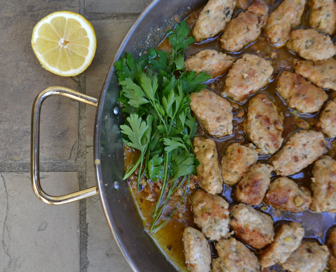Chicken Meatballs in White Wine Sauce   labellasorella.com