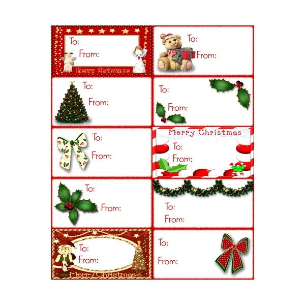 christmas labels templates word complimentary holiday gift tag