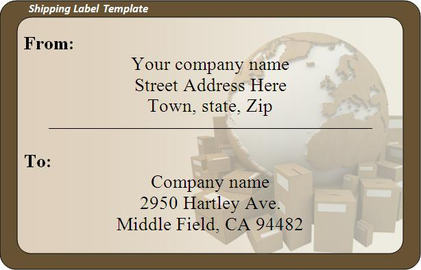 free shipping label template word shipping label template 270585