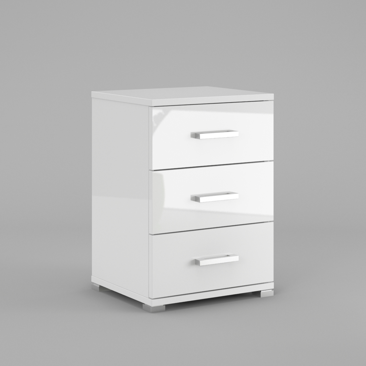 White Bedside Drawers Neli 3 Drawers Bedside Cabinets White High Gloss And