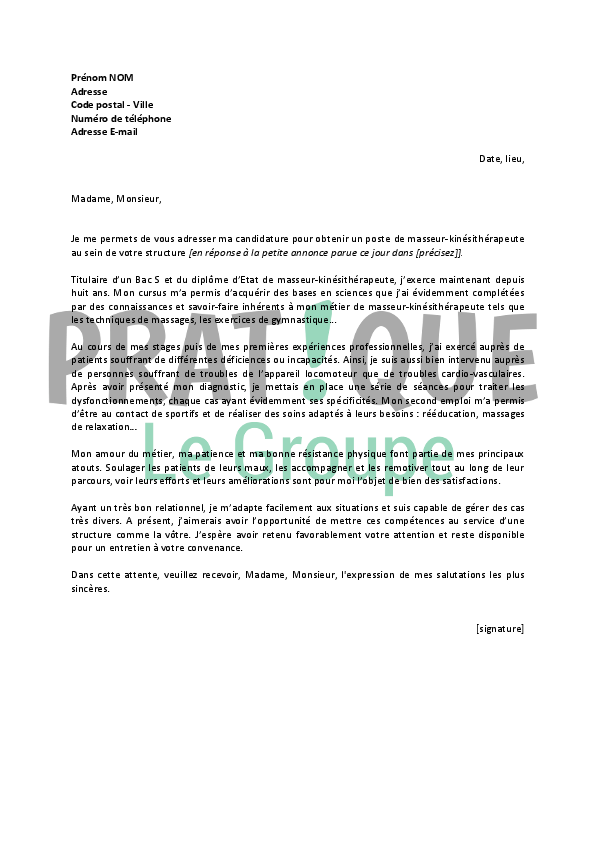 Agricole Formation Lettre De Motivation Ripeur Debutant - Laboite-cv.fr