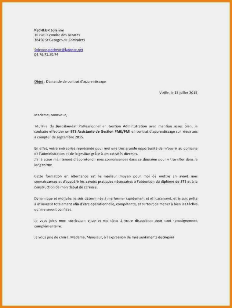 Gestion Alternance Lettre De Motivation Assistant De Gestion Administrative