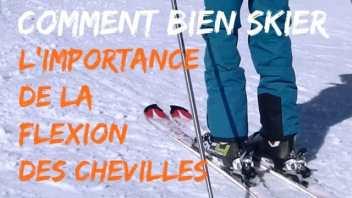 Comment bien skier - Secret 2 la FLEXION de cheville - Démo avec et sans1