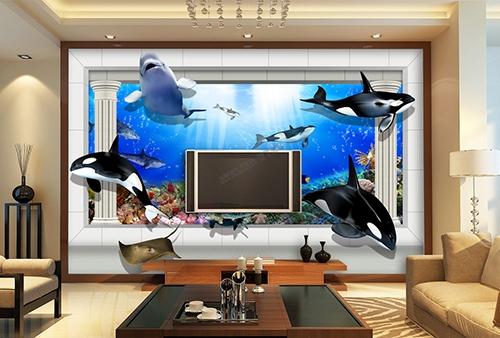 3d Wallpaper Hd For Living Room In India Papier Peint 3d Personnalisable Les Orques Papier Peint