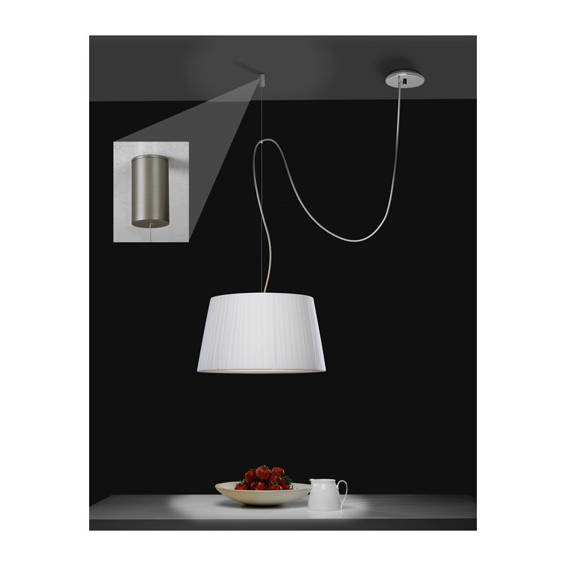 Patere Muuto Patère Déportée Suspension Pendant Nickel Mat Astro Lighting