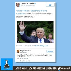 Busted. Donald Trump deleted this tweet attacking Jeb Bush over his Mexican wife:
