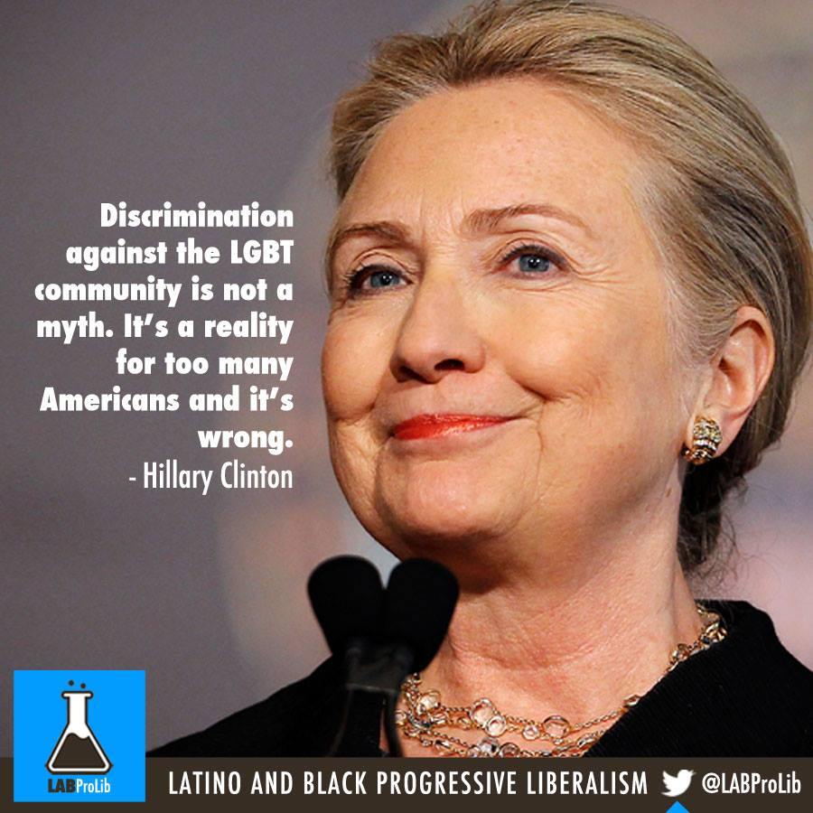 Discrimination against the LGBT community is not a myth. It's a reality for too many Americans and it's wrong. - Hillary Clinton