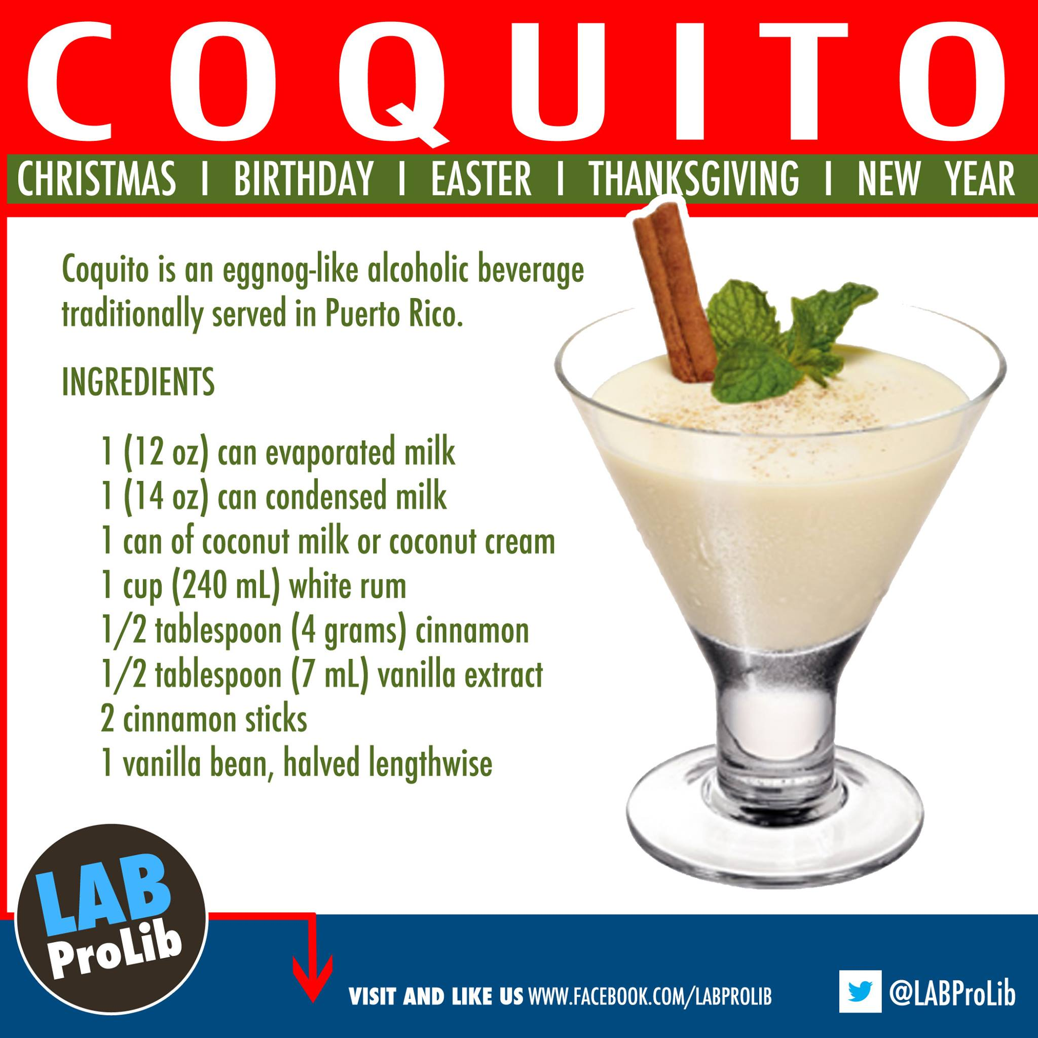 Holiday drink coquito is an eggnog like alcoholic beverage coquito is an eggnog like alcoholic beverage traditionally served in puerto rico it is made with rum coconut milk sweet condensed milk cinnamon forumfinder