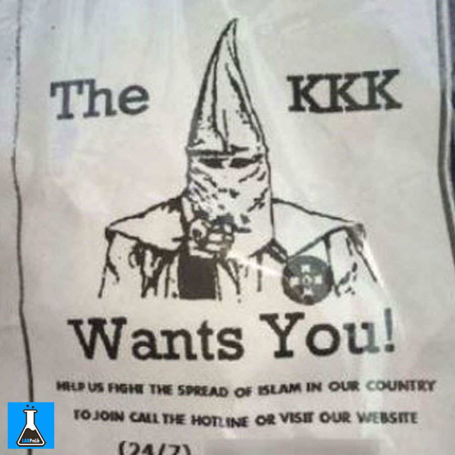 "KKK fliers were sent out to people in Alabama this month to stop ""The Spread Of Islam."""