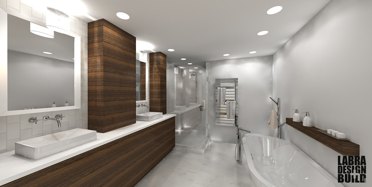 Modern Master Bathroom Design Labra Design+Build