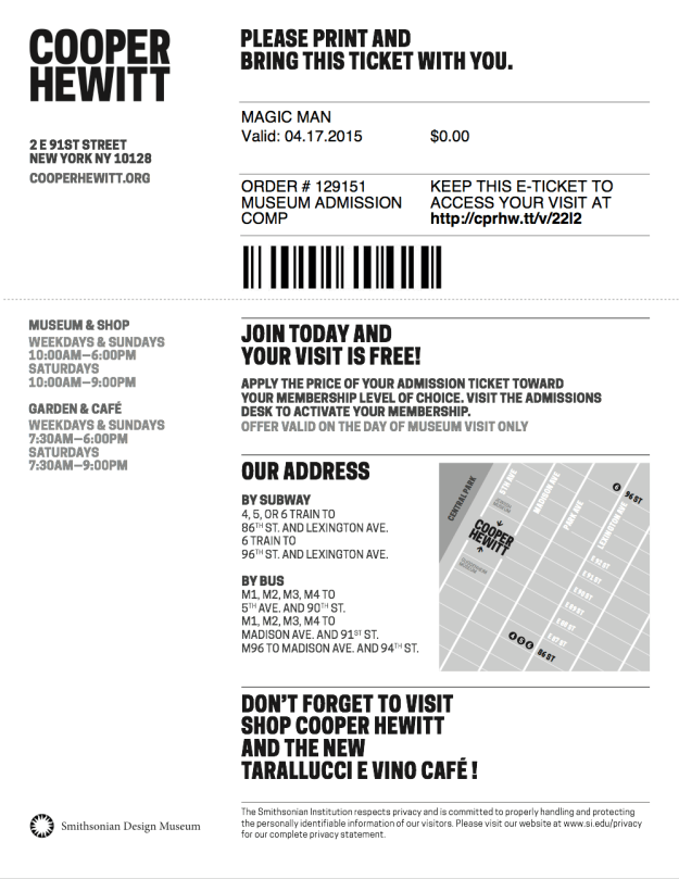 "The original eTicket PDF had one page (one ""ticket"") per visitor. The email went to the purchasing visitor's inbox."