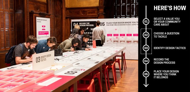 Fig.1. Process Lab: Citizen Designer exhibition and signage, on view at Cooper Hewitt.