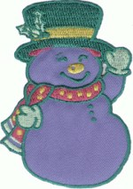 2 3/4'' by 3 7/8'' Iron On Snowman Applique2 3/4'' by 3 7/8'' Iron On Snowman Applique