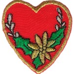 1 7/8'' - 4.8 cm -  Iron On Heart Applique1 7/8'' - 4.8 cm -  Iron On Heart Applique