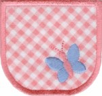 2 3/4'' by 2 1/2'' Pocket With Butterfly2 3/4'' by 2 1/2'' Pocket With Butterfly