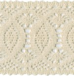 3 1/8'' Natural Cotton Lace Cluny3 1/8'' Natural Cotton Lace Cluny