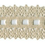 2 1/8'' Cotton Cluny Lace Trim - Natural, White2 1/8'' Cotton Cluny Lace Trim - Natural, White