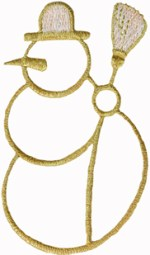 2 1/2'' by 4 1/4'' Iron On Metallic Snowman Applique2 1/2'' by 4 1/4'' Iron On Metallic Snowman Applique