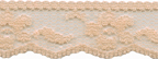 3/4'' Passion Peach Lace Trim3/4'' Passion Peach Lace Trim