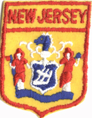 1 3/4'' by 2 3/8'' New Jersey Patch Applique1 3/4'' by 2 3/8'' New Jersey Patch Applique