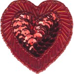 2 1/8'' - 5.3cm - Heart Applique with Pin Back-Red, Royal Blue2 1/8'' - 5.3cm - Heart Applique with Pin Back-Red, Royal Blue