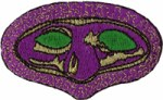 1 3/4'' by 2 3/4'' Mardi Gras Mask Applique1 3/4'' by 2 3/4'' Mardi Gras Mask Applique