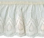 2'' Ivory Gathered Lace Trim2'' Ivory Gathered Lace Trim