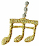 1'' by 3/4'' Musical Note Applique1'' by 3/4'' Musical Note Applique