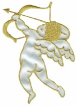 3'' by 4'' Cherub Iron On Applique3'' by 4'' Cherub Iron On Applique