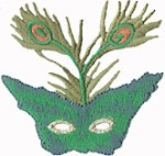2 1/4'' by 2 1/4'' Iron On Mardi Gras Mask Applique2 1/4'' by 2 1/4'' Iron On Mardi Gras Mask Applique