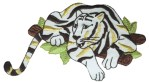 3 7/8'' by 3 5/8'' Iron On Tiger Applique3 7/8'' by 3 5/8'' Iron On Tiger Applique