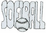 2 1/2'' by 1 3/4'' SOFTBALL Iron On Applique2 1/2'' by 1 3/4'' SOFTBALL Iron On Applique