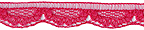 3/8'' Raspberry Lace Trim3/8'' Raspberry Lace Trim