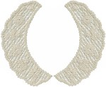 8'' by 4 1/4'' Natural Cluny Lace Collars Set L/R8'' by 4 1/4'' Natural Cluny Lace Collars Set L/R