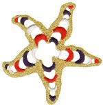 2 7/8'' - 7.3cm - Starfish Applique2 7/8'' - 7.3cm - Starfish Applique