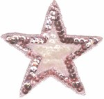 3'' - 7.6cm - Pink Beaded & Sequined Star Applique3'' - 7.6cm - Pink Beaded & Sequined Star Applique