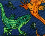 2'' by 1 1/2'' Sew On Lizards Applique2'' by 1 1/2'' Sew On Lizards Applique