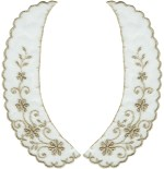 8'' by 3'' Tan Netting Lace Collar Set (Left/Right)8'' by 3'' Tan Netting Lace Collar Set (Left/Right)