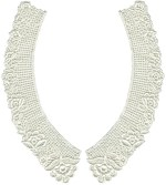 8 3/8'' by 2 3/4'' Ivory Venice Lace Collar Set - Left/Right8 3/8'' by 2 3/4'' Ivory Venice Lace Collar Set - Left/Right