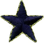 1'' - Navy Star with Gold Edge1'' - Navy Star with Gold Edge