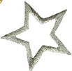1 1/2'' - 3.8cm by - Metallic Silver Star Applique1 1/2'' - 3.8cm by - Metallic Silver Star Applique