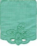 3 5/8'' by 4 3/8'' Green Pocket Applique3 5/8'' by 4 3/8'' Green Pocket Applique