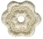 3/4'' - 1.9cm - Natural Flower Applique3/4'' - 1.9cm - Natural Flower Applique