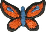 1'' by 5/8'' Iron On Butterfly Applique1'' by 5/8'' Iron On Butterfly Applique