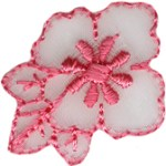 1'' by 1'' Iron On Pink Flower Applique1'' by 1'' Iron On Pink Flower Applique