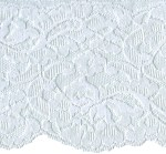 4 1/4'' White Lace with 1 Side Selvage4 1/4'' White Lace with 1 Side Selvage