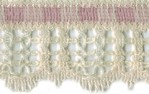 1 1/2'' Cream/Pink Lace Trim1 1/2'' Cream/Pink Lace Trim